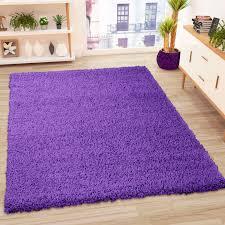 teppich hochflor shaggy teppiche langflor lila wohnzimmer