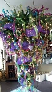 White Upside Down Christmas Tree