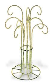 C Ornament Display Stand 9 Hook Bright Gold Color Finish1120 Up