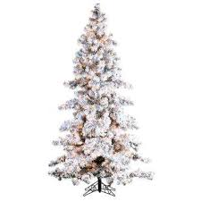 75 Flocked Christmas Tree by Flocked Frosted Artificial Christmas Trees Christmas Trees