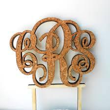 Rustic Monogram Cake Topper Wedding Personalize Custom Cork And Wood Vineyard Decor