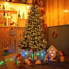 Costway 75 Ft Pre Lit Artificial Christmas Tree W 750 LED Lights Stand