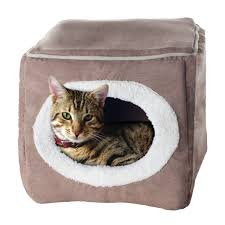 Kh Thermo Kitty Heated Cat Bed by Kh Thermo Kitty Sleep House Heated Cat Bed In Tan And Leopard Beds
