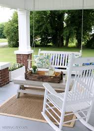 Red Patio Furniture Pinterest by Best 25 Front Porch Swings Ideas On Pinterest Porch Swings
