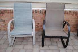 Diy Replace Patio Chair Sling by Transform Spray Painting Patio Furniture In Home Interior Design