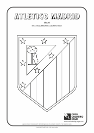 Atletico Madrid Logo Coloring Page With Colouring