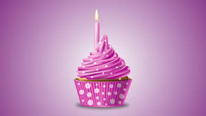 Pink Birthday Cupcake With A Candle And Sparkling Stars 4K Ultra High Definition Motion Stock Footage Video
