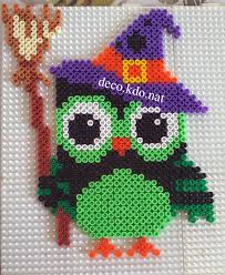 Halloween Perler Bead Templates by Witch Owl Halloween Hama Perler Beads By Deco Kdo Nat Activities