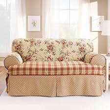 amazon com sure fit lexington 1 piece sofa slipcover multi