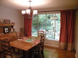 Curtain Design Wooden Dining Set Under Amusing Hanging Lamp Near Nice Room Curtains Ideas