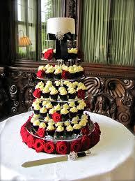 Black White Wedding Cupcake Tower