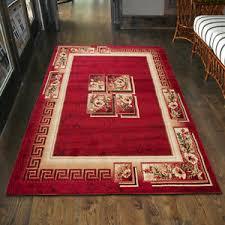 details zu teppich wohnzimmer klassisch griechisch rot läufer s 200x300 300x400 mehr