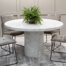Vida Living Carra Marble Round Dining Table In Bone White