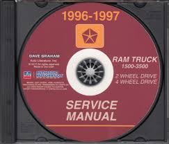 100 Used Service Trucks 19961997 Dodge Ram 15003500 Truck Repair Shop Manual CD