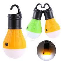 outdoor hanging led cing tent light bulb fishing lantern 3x led