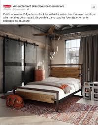 look industriel mode schlafzimmer industrie bett