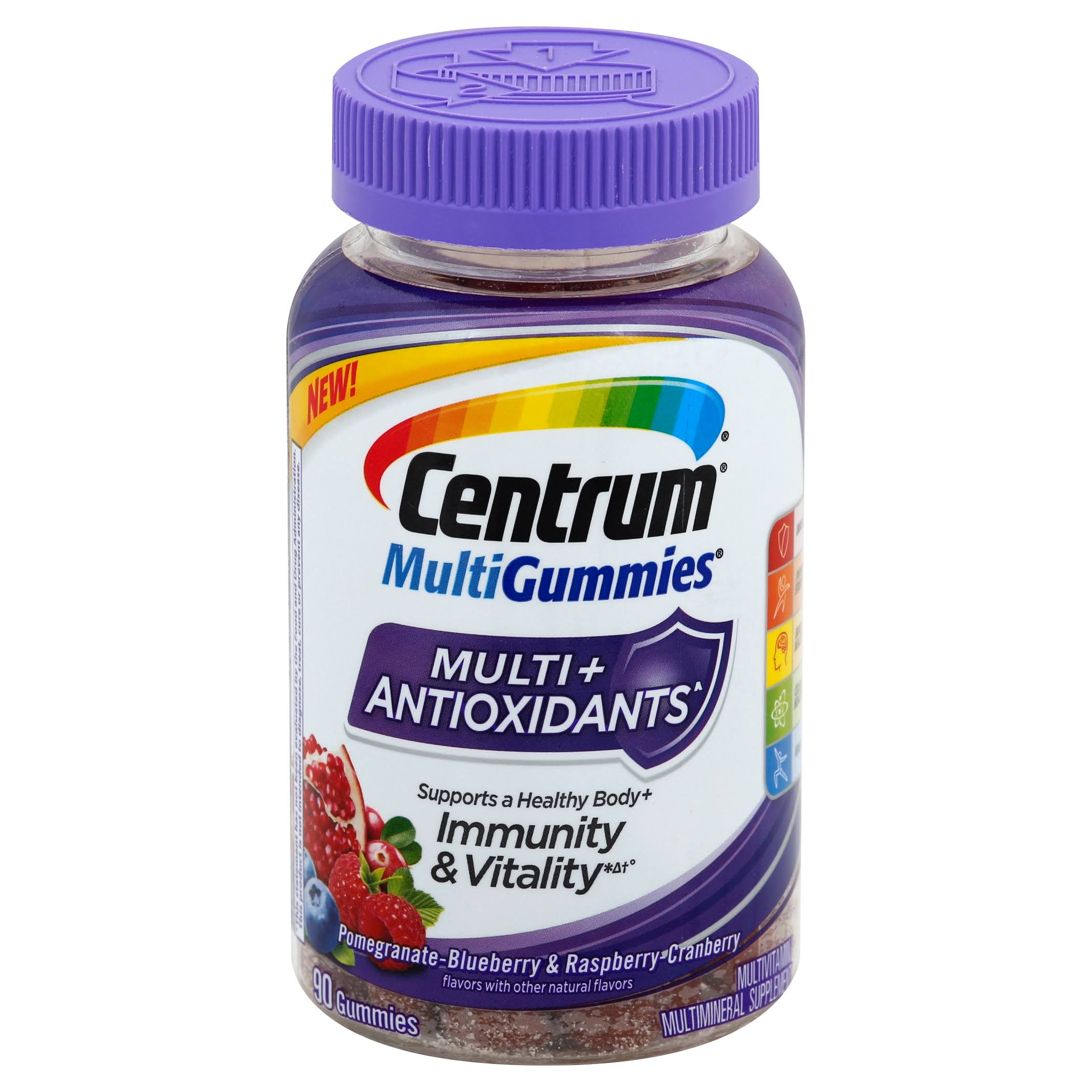 Centrum Multigummies Adult Multivitamin Antioxidants Gummies Supplements - 90ct
