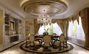 Elegant Circular Dining Room
