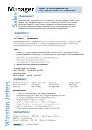 Sales Manager CV Example 8