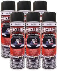 100 Herculiner Truck Bed Liner PEAK Black SprayOn 15 Oz 6 Pack