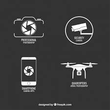Security Camera Vectors s and PSD files