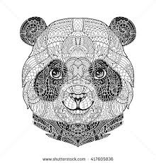 Animal Portrait In Zentangle Style For The Adult Anti Stress Coloring Book