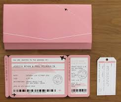 We Design Boarding Pass Wedding Invitations For Destination Weddings With Tailor Made And Ready To Go Options Available
