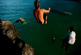 Animated GIF Jump Guys Ocean Cliff Jumping F