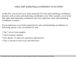 Sample Resume Of Marketing Coordinator