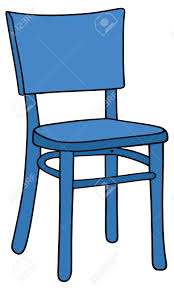 Hand Drawing Of A Blue Chair Stock Vector