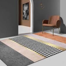 geometrische klassische hahnentritt muster teppich gold gelb grau rosa wohnzimmer schlafzimmer boden teppiche 3d luxus hause innen matte