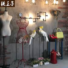 Prince Iron Clothing Store Window Display Rack Floor Showcase Water Table Creative Decorative