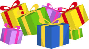 pile of christmas presents clipart
