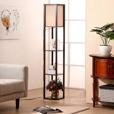 Mainstays Floor Lamp With Reading Light Brown by 3 Tier Shelf Lamp Office Two Person Deskmontego Bookcase Black 5