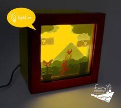 Mario Bros Question Block Lamp by Build A 3 D Super Mario Papercraft Magnet Board Laboratory 424