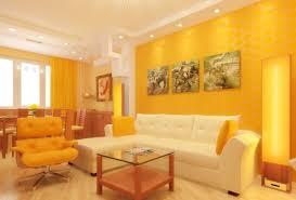 gelbe akzente im innenraum des wohnzimmers wohnzimmer in
