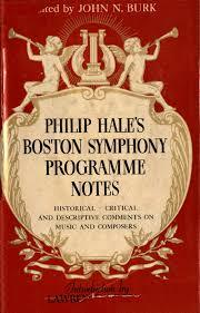 Philip Hales Boston Symphony Programme Notes