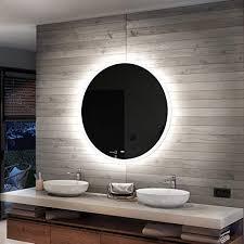 artforma runder badspiegel mit led beleuchtung 90cm wählen