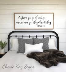 Bedroom Wall Decor Love You More Most Wood Sign