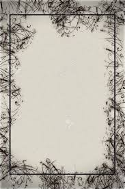 Abstract Border Design On Textured Paper In Black And White Stock Photo