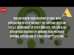 Can You Renew Your Passport At The Post fice