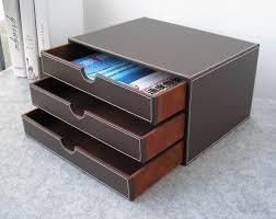 classeur de bureau horizontal 3 couche 3 tiroir bois bureau en cuir de construction