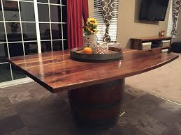 Wine Barrel Dining Room Table Walnut No Picture