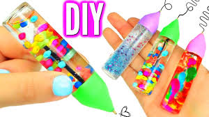 diy liquid pens orbeez lava glitter liquid pens youtube