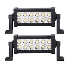 100 Truck Spotlights Amazoncom LED Light Bar 2X 36W Spot Waterproof Side Mount