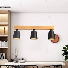 zmh pendelleuchte esstisch holz hängeleuchte 3 flammig warmweiß höhenverstellbar esstischle für esszimmer wohnzimmer büro cafe restaurant 3x