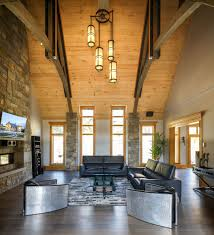 Interior Small Unvarnished Log Cabin Design Inspiration Furniture Mountain Homes White Platform Chairs Designs Stone Deck