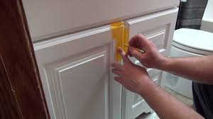 Cabinet Knob Template Menards by Installing Cabinet Hardware Youtube