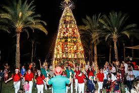 Towering Christmas Tree At Shangri La In Oman