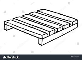 Wooden Pallet Cartoon Vector Illustration